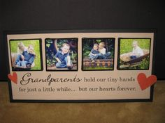 Grandparents homemade Christmas gifts | ... great gift ideas that were linked up to our homemade gifts party