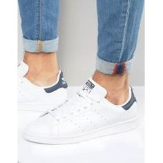 Buy adidas Originals Stan Smith Leather Trainers In White at ASOS. With free delivery and return options (Ts&Cs apply), online shopping has never been so easy. Get the latest trends with ASOS now. Adidas Stan Smith, Asos, Leather Trainers, Leather Sneakers, Platform Sneakers, Stan Smith Outfit, Men's Shoes, Shoe Boots, Shoes Men