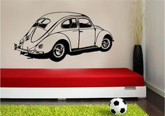 Volkswagen Bug Beetle Slug VW Vinyl Wall by sunsetsigndesigns, $29.99