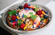 As we prepare to come out of our winter hibernation for another year, it's not uncommon to feel the sudden desire to swap your usual Saturday scrambled eggs for a fruit salad. We've got you covered, Melbourne, with this epic list of the best healthy breakfasts in our fair city. And it's not all acai and kale (although they do get a few mentions). From sweet to savoury, pancakes to pudding, these are the best Melbourne breakfasts you can order without copping a heavy dose of #foodenvy.