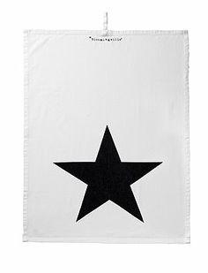 Geschirrtuch Stern Schönes Geschirrtuch aus Baumwolle mit plakativem Stern, von Bloomingville.