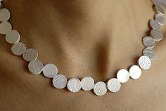 """Susanna Kuschek, """"Punkte"""" (""""Dots"""") necklace, 925 silver"""