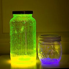 Break glow sticks in a jar. Keep it in a dark room and scare your visitors!