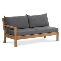 kawan lounge garten outdoor sofa teak recycled mit kissen | home, Garten und Bauen