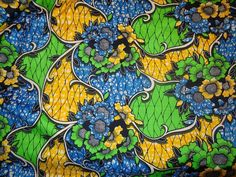 African Wax Print Fabric by the HALF YARD. Floral by MoreLoveMama