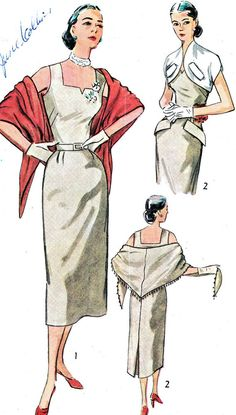 Vintage Sewing Pattern 1950s Simplicity 3546 by paneenjerez, $18.00