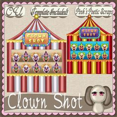 Clown Shot (FS-CU-TEMPLATE-PSP SCRIPT) [Pink] : Scrap and Tubes Store, Digital Scrapbooking Supplies