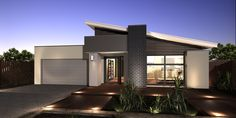 Home Design Overview Sip House, Front House Landscaping, Modern House Facades, My House Plans, House Landscape, House Elevation, Exterior House Colors, Facade House, Home Design Plans
