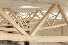 Image 3 of 20 from gallery of Artis Headquarters / Roswag Architekten. Photograph by Daniela Friebel Architecture Artists, Wood Architecture, Wooden Facade, Wooden Buildings, Halle, Wood Joints, Timber Structure, Construction Design, House Plans
