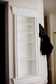 DIY Recessed Shelves