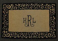 Indoor Rug with #monogram $62 Kitchen Mats, Indoor Rugs, Creative Home, Initials, Monogram, My Style, Unique, Design, Home Decor