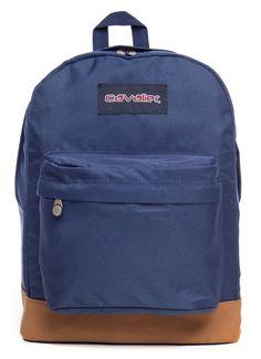 Mochila escolar Cavalier lisa azul com marrom - Enluaze Loja Virtual | Bolsas, mochilas e pastas