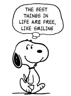 Snoopy Smiling For Free Peanuts Quotes, Snoopy Quotes, Snoopy Love, Snoopy And Woodstock, Snoopy Hug, Peanuts Cartoon, Peanuts Snoopy, Disney Fantasy, Charlie Brown And Snoopy