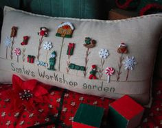 Summer Flower Garden Pillow Cottage Style by PillowCottage on Etsy