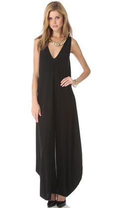 #Rachel #Zoe Arlene Draped Maxi Dress