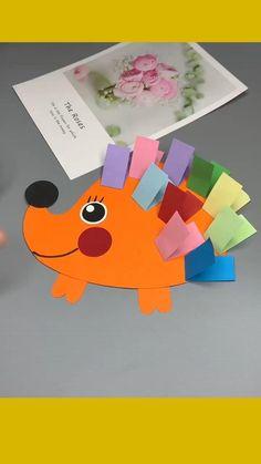 Diy Crafts For Kids Easy, Animal Crafts For Kids, Diy Crafts Hacks, Halloween Crafts For Kids, Paper Crafts For Kids, Craft Activities For Kids, Toddler Crafts, Preschool Crafts, Fun Crafts