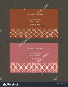 #Business #cards with #abstract #decorations