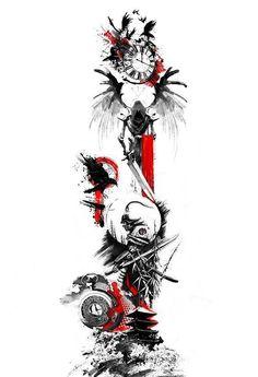 old school phrases men man . - old school phrases mens men arm - Kunst Tattoos, Bild Tattoos, Tattoo Drawings, Tattoo Ink, Arm Tattoo, Japanese Tattoo Art, Japanese Tattoo Designs, Japanese Art, Japanese Painting