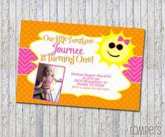Summer Sunshine Birthday Invitation digital & by RockinRompers
