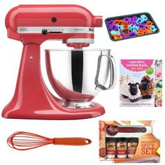 Special Offers - KitchenAid KSM150PSWM Artisan 5-Quart Stand Mixer (Watermelon)  Cupcakes Cookies & Pie Oh My! Cook Book  Cookie Sheet  Accessory Kit - In stock & Free Shipping. You can save more money! Check It (April 06 2016 at 09:35AM) >> http://dripcoffeemakerusa.net/kitchenaid-ksm150pswm-artisan-5-quart-stand-mixer-watermelon-cupcakes-cookies-pie-oh-my-cook-book-cookie-sheet-accessory-kit/