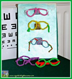 Optician's Stand, glasses stand, pretend play, role play, photo health activities health care health ideas health tips healthy meals Eyfs Activities, Health Activities, Family Activities, Doctor Role Play, People Who Help Us, Prop Box, Role Play Areas, Dramatic Play Centers, Kids Health