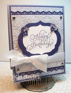 SU Beautiful Birthday, embossed vellum, Labels Framelit, Edgelit