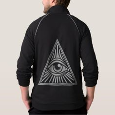 Illuminati - All Seeing Eye Fleece Track Jacket