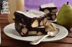 brownies con pera