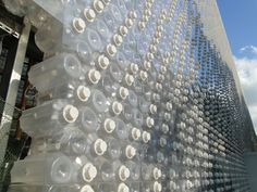 EcoArk, a building with walls made of 1.5 mio. recycled plastic bottles.