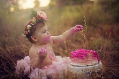 Heather Hamlet Photography Cake Smash Photography Birthday Photography One year old girl Photography Outdoor Photography Cake Smash Photography, Birthday Photography, Girl Photography, Photography Ideas, One Year Pictures, First Year Photos, Cake Pictures, 1st Birthday Cake Smash, Baby Girl Birthday