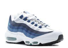 huge selection of b967a 89ea3 Online Nike Air Max 95 Og White Emrld Grn Crt Bl Nw Slt Trainers Cheap Sale