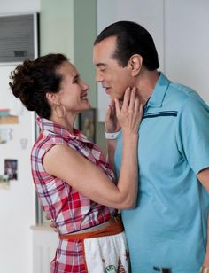 "Andie Mcdowell and Chazz Palminteri in ""Mighty Fine"" the movie."