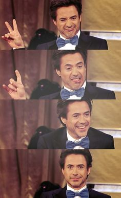 RDJ. I seriously adore him and how he never takes anything too seriously.
