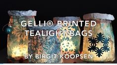 Printing with Gelli Arts®: Gelli Arts® Printed Tealight Bags 3d Art Projects, Gelli Plate Printing, Gelli Arts, Plate Art, Colouring Techniques, Plate Crafts, Art Tutorials, Tea Lights, Videos