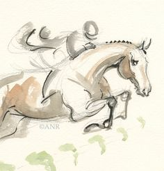 Horse Art Original Watercolor Painting by Anna by annarockwell, $75.00
