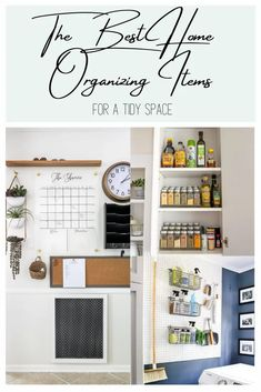 A round up of 20 home organizing items to tidy every room in your house, establish good organizing habits, and keep it that way.