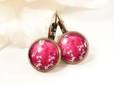 ✿ Zauberblüten ✿  Cabochon Ohrringe von Perlen-Schlösschen ❀ auf DaWanda.com