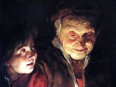 Peter Paul Rubens - Woman and Boy with Candle ( detail)