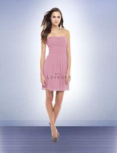 Bridesmaid Dress Style 156  fabric: chiffon  neckline: strapless  silhouette: natural wait
