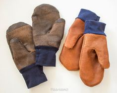 from old leather jackets Sewing Hacks, Sewing Tutorials, Sewing Tips, Diy Clothing, Clothing Patterns, Refashion, Ugg Boots, Wool Felt, Mittens