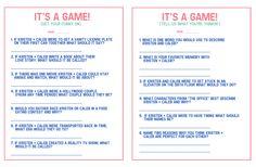 bridal shower game, fun shower ideas
