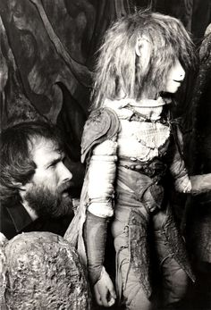 Jim Henson working on THE DARK CRYSTAL.
