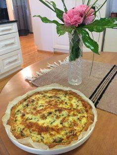 Liian hyvää: Tilli-tonnikala-cheddarpiirakka ja hääpäivän viettoa Quiche, Meal Prep, Food And Drink, Pizza, Cheese, Meals, Breakfast, Cake, Morning Coffee
