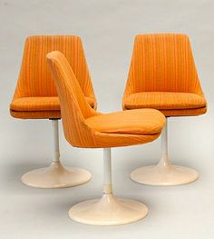 Joe Colombo; Dining Chairs for Lusch Erzeugnis, 1960s.