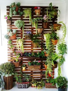 I love this one because it uses the vertical space so well -- would love to have a wall of herbs, pretty greenery and nice-smelling flowers like lavender