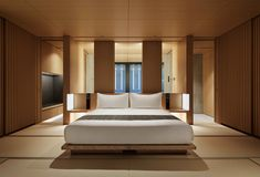 View the rooms & pavilion at Aman Kyoto. A blend of modern design & traditional Japanese Ryokan inn styles. Book luxury accommodation at Aman Kyoto. Japanese Bedroom, Japanese Interior, Japanese House, Japanese Modern, Japan Room, Hotel Safe, Hotel Room Design, Luxury Rooms, Luxury Hotels