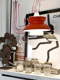 Doo-Wop Pendelleuchte in Rot Retro Lampe, Berlin Design, Lamp Light, Designer, Lights, Inspiration, Interior Design, Poulsen Lamp, Furniture