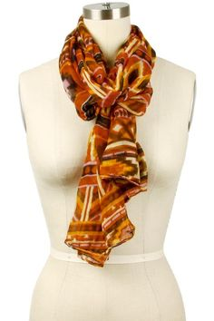 Bright Colored Tribal Print Scarf $14