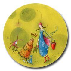 gaelle boissonnard - Page 9 Pottery Painting, Ceramic Painting, Marie Cardouat, Cute Pictures To Draw, Illustrations, Illustration Art, Decoupage, Art Fantaisiste, Art Carte