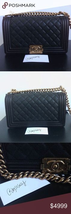Chanel Le Boy Old Medium Caviar GHW Bag Hardly ever worn! ❤️🙀 Fabulous new condition! Box, dust bag, receipt. Everything comes with the bag.would entertain only reasonable offers. No trades on this item. Present from fiancé but I don't wear it enough to hold onto bag any longer. Just want to sell at this time... ✨ CHANEL Bags